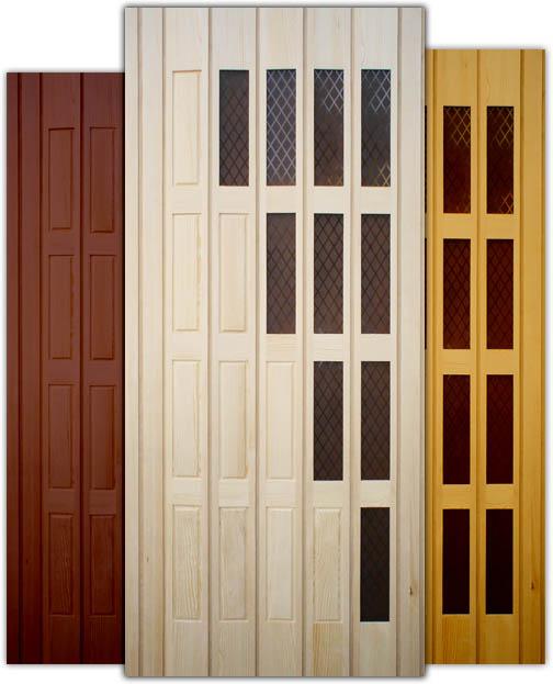 Pinokio - drewniane drzwi harmonijkowe